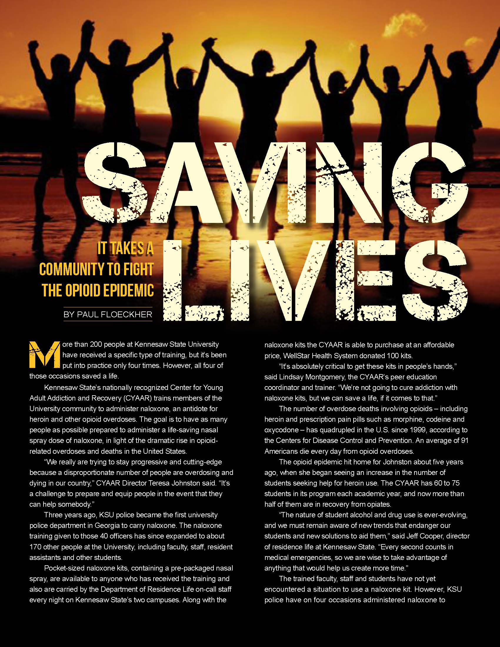 KSU Magazine Saving Lives Click here to read article