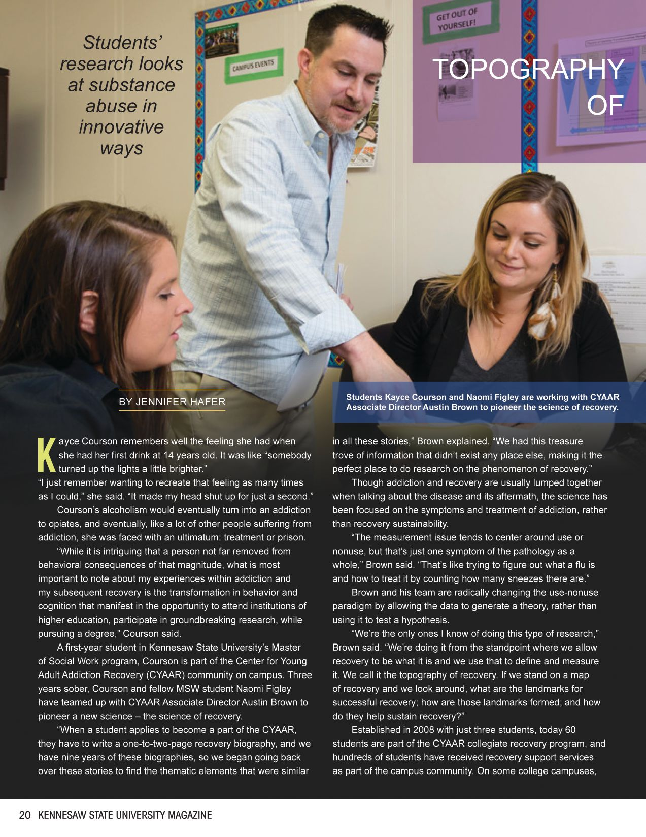 Click here to read KSU Magazine's Article on Recovery Science